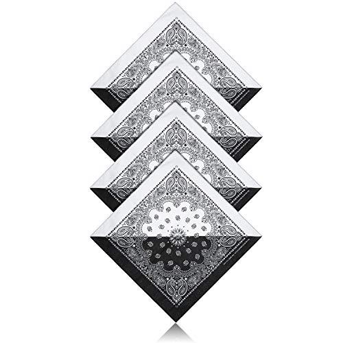 ZWOOS 5 Unisex Bandana, Cuello Multicolor Algodón bandanas, Cabeza Cuello Bufanda, Hombre Cuello Pañuelo Mujer Deportivo pañuelos Pañuelos