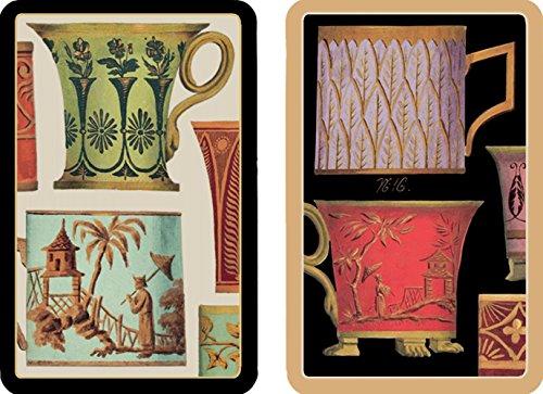 Caspari Salon de the 'Kaarten spelen, hout, meerkleurig, 13 x 9,5 x 0,1 cm