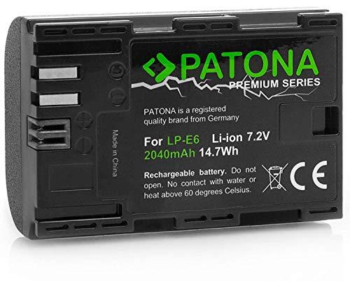 "Patona Premium Akku für Canon LP-E6 - Intelligentes Akkusystem - \""neueste Generation\"" für Canon EOS 60D 60Da 70D 80D 5D Mark II III 6D 7D Mark II"