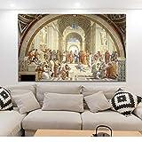 EWOUU Berühmte Malerei Kunst Schule Von Athen Von Raphael,