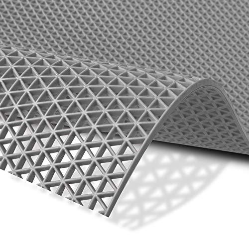 Hygienematte Z-Mat | viele Größen | stark rutschhemmend | für Nassbereiche und Arbeitsplätze | Grau - 120x150 cm