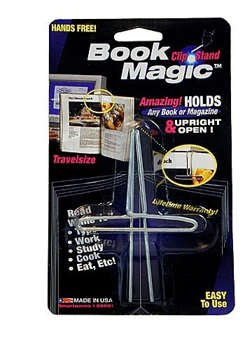 Book Magic Book Clip and Stand (Chrome) by Smartwares