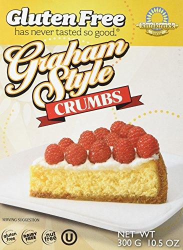 Kinnikinnick Crumbs - Graham Style Gluten Free, 10.5-Ounce (Pack of 6)