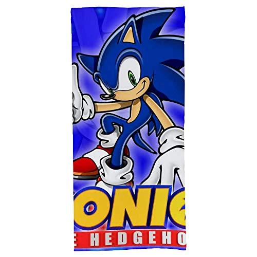 hoist Sonic The Hedgehog Toallas de baño absorbentes suaves para baño, secado rápido, toalla de playa de gran tamaño para mujeres y hombres