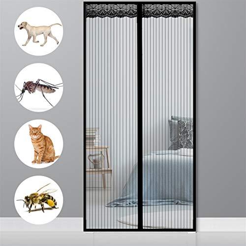 AMZERO Fliegengitter Tür Magnet, 190x260cm Insektenschutz Fliegengitter FüR Dachfenster Glasfasermaterial für Balkontür Terrassentür Wohnzimmer, Schwarz