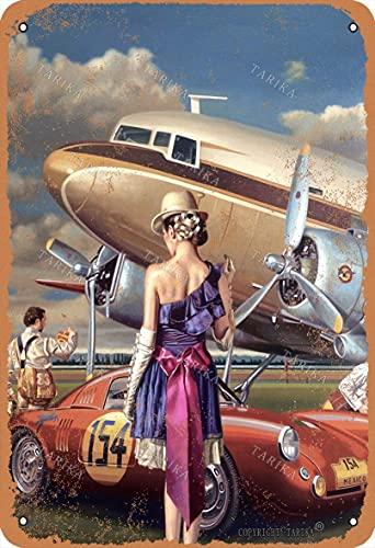 BIGYAK Traveler 20 x 30 cm - Cartel de pintura retro para decoración de hogar, cocina, baño, granja, jardín, garaje, citas inspiradoras para decoración de pared