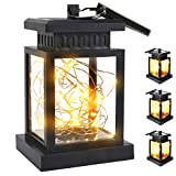 SUPERDANNY Solar Lanterns Outdoor Hanging Lights 1600mAh Rechargeable Waterproof Solar Powered Lantern with 30 Pcs LEDs and Free Rope for Garden Patio Landscape Decorative, 4 Pack
