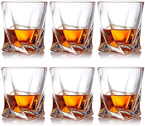 Farielyn X Crystal Whiskey Glasses Set of 6 Scotch Glasses Tumblers for Drinking Bourbon Scotch product image