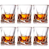 Farielyn-X Crystal Whiskey Glasses, Set of 6 Scotch Glasses, Tumblers for Drinking Bourbon, Scotch, Cocktail, Cognac, Irish Whisky, Large 10oz Premium Crystal Glass Tasting Cups for Men & Wo