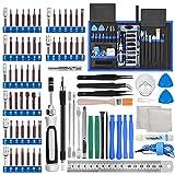 Mac Schraubendreher Set 87 in 1 Magnetischer Präzisionsschraubendreher Satz Werkzeug Toolkit für Smartphones Tablets, PCs, Konsolen, Kameras, Uhren, Brillen, Modellbau, Playstation by FUJIWAY