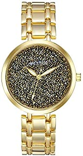 Mestige The Twilight Watch in Gold with Swarovski® Crystals (Gold) Gifts Women Girls, Metal Band