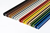 Rollmayer glänzend einläufig Gardinenschiene aus Aluminium (Weiß Gardinenschiene mit Faltenlegehaken, 200cm) Deckenbefestigung mit SMART-klick Montage, Innenlaufschiene für Vorhänge