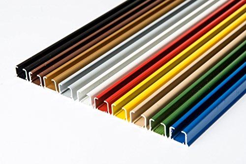 Rollmayer glänzend einläufig Gardinenschiene aus Aluminium (Silber Gardinenschiene mit Faltenlegehaken, 120cm) Deckenbefestigung mit SMART-klick Montage, Innenlaufschiene für Vorhänge