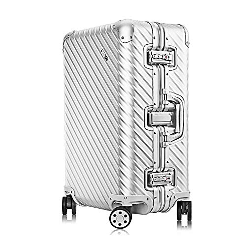 XIANGSHAN Trolley Case - Fashion Aluminum Magnesium Alloy Trolley Case/Durable Large Capacity Travel Business Boarding Trolley Case / 32 Inch / 64 * 41 * 25cm