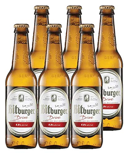 Bitburger Drive Non-Alcoholic German Beer 330ml (.33l) 6-Pack