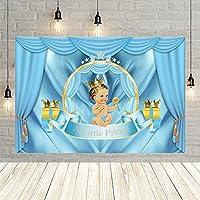 シャワー写真の背景ブルーカーテンロイヤルボーイ誕生日パーティー新生児ポートレート写真撮影の背景 Photocall 小道具-220x150CM