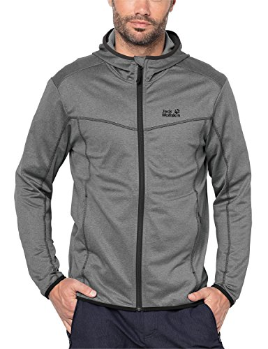 Jack Wolfskin Men's Sutherland hooded Jacket, 3X-Large, Tarmac Grey