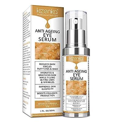 kizenka Eye Serum, Anti Ageing Eye Cream for Dark Wrinkles with Natural Ingredients for Dark Circles, Remove Dark Circles Eye Care Against Puffiness and Bags from KIZENKA-010