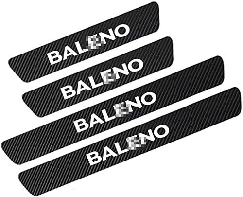 4 stuks Auto Instaplijsten Plaatbeschermers,voor Suzuki Baleno 2000-2020,Anti Kras Koolstofvezel Autodeur Stickers,Anti-Vuil Anti-kras Scuff Decor Accessoires