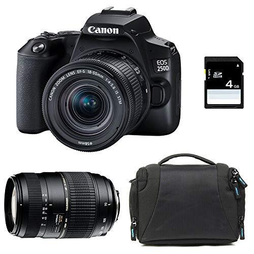 CANON EOS 250D + 18-55 IS STM + TAMRON 70-300 DI + Sac + SD 4Go