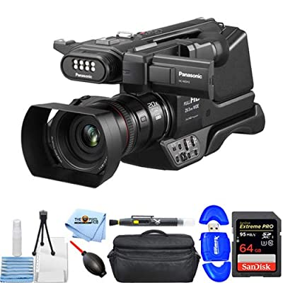 Panasonic HC-MDH3 AVCHD Shoulder Camcorder with LCD Screen & LED Light (PAL) Essential Bundle with Extreme Pro 64GB SD, Card Reader, Gadget Bag, Cleaning Pen, Blower, Microfiber Cloth and Cleaning Kit from Panasonic