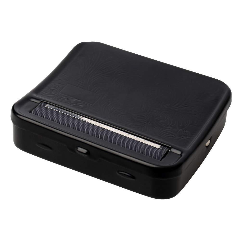 pengxiaomei - Máquina de Liar Cigarrillos, Caja de Metal portátil con Ruedas para Cigarrillos, Color Negro: Amazon.es: Hogar