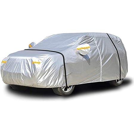 Neverland L Autoabdeckung Vollgarage Auto Hatchback Abdeckplane Autogarage Pkw Wasserdicht Staubdicht Pkw Autoplane Ganzgarage Atmungsaktiv Mit Reißverschluss 450x185x150cm Verbessertes Material Auto