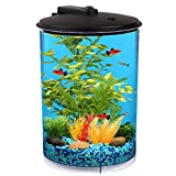 Koller Products AquaView 3-Gallon 360 Aquarium with LED Lighting...