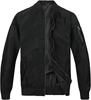 メンズ フライトジャケット ボンバージャケット MA-1 ジップアップ 無地 防寒 カジュアル ライダース コート アウター ブルゾン
