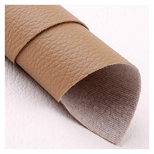 XUCZHAI Cuero Sintetico 3 PCS A4 Hoja 8'x11.8 Tela sintética de Cuero de Piel de Piel de Piel sintética de Piel sintética para Arcos Costura Artesanal DIY Polipiel para Tapizar (Color : Tan)