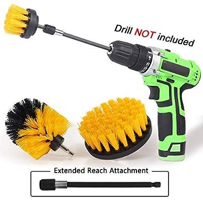 Drill Brush Power Scrubber Drill Brush Attachme...