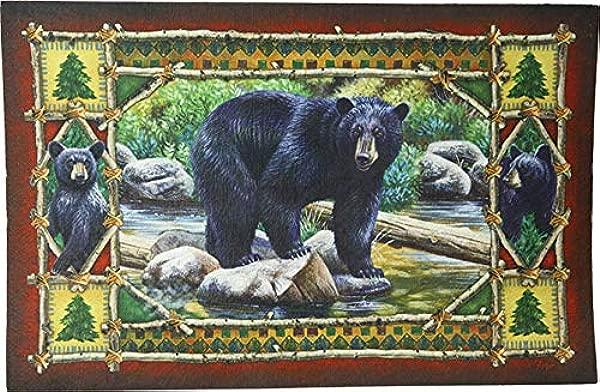 River S Edge Products Bear Scene Door Mat