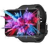 Eghunooye 4G Smart Watch GPS Sportuhr mit 5MP HD Kamera + 2700mAh großer Batterie + 2,8'LCD Display Smartwatch WiFi Frequenz Schrittz?hler Uhrentelefon mit SIM Slot (Schwarz, 3+32GB)