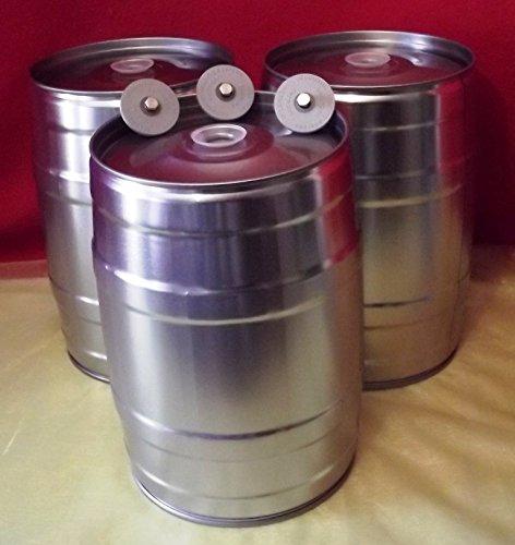 Nahrungsmittel-selbermachen 3 Stück: 5 Liter Bierfass inkl. Ventilstopfen, Partyfass ohne Aufdruck für Ihr selbstgebrautes Bier