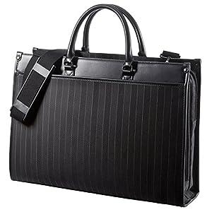 サンワダイレクト ビジネスバッグ ダブルサイズ 手提げ ショルダー 通勤 対応 200-BAG088