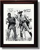 Framed Lone Ranger Autograph Replica Print - Clayton Moore