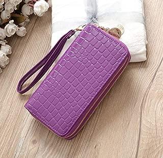 Luxury Women Wallets Leather Wallet Double Zipper Day Clutch Large Capacity Wristlet Coin Purse Card Holder Billetera