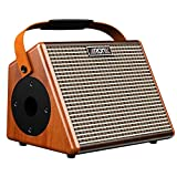 Amp, Aroma 15W Acoustic Guitar Wooden Amplifier with Bluetooth