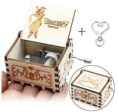 Cuzit Dragon Ball Theme Antico Intagliato Music Box della manovella Carillon in Legno Giocattolo