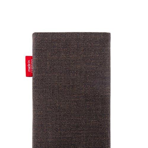 fitBAG Jive Braun Handytasche Tasche aus Textil-Stoff mit Microfaserinnenfutter für Huawei Ascend Mate 2   Hülle mit Reinigungsfunktion   Made in Germany - 5