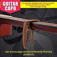 ギター愛好家のためのギタープレーヤーのための防錆フォークギターカポ(Imitation rose wood grain)