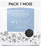 Couches LILLYDOO Taille 2 (4-8 kg) - 185 couches - Pack 1 mois