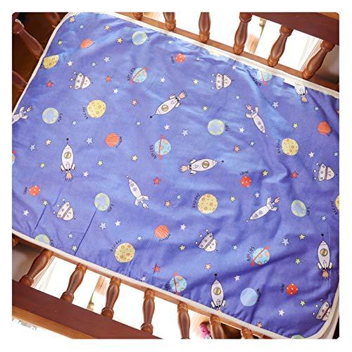 DYKJK Portátil Dibujos Animados bebé pañales Cambio Estera Suave algodón Cambiador de pañales Grande recién Nacido Impermeable colchoneta colchoneta para el hogar y los Viajes