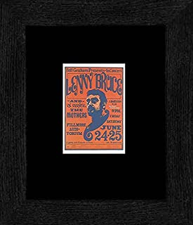 Stick It On Your Wall Lenny Bruce Mothers - Fillmore Auditorium June 1966 Framed Mini Poster - 20x18cm