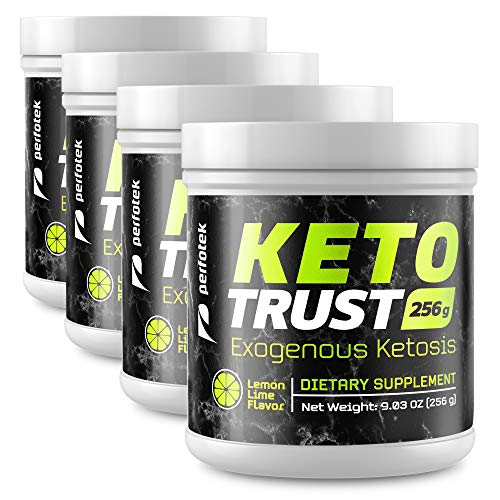 4 Pack Perfotek Keto Powder - Instant Ketosis - Exogenous Ketones Weight Loss Supplements with BHB and Electrolytes for Ketogenic Diet - Lemon Lime 7