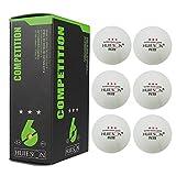 Grandnessry Balles De Tennis De Table 3 Étoiles | 6 Balles De Ping-Pong, Taille Officielle 40 Mm | pour Tables Intérieur Et Extérieur pour La Compétition
