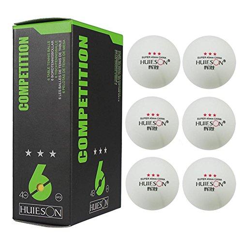 6 Piezas de Bolas de Ping-Pong de 3 Estrellas, 40 mm / 1.57 Pulgadas de diámetro 2.9 g Pelota de Tenis de Mesa para Entrenamiento de competición