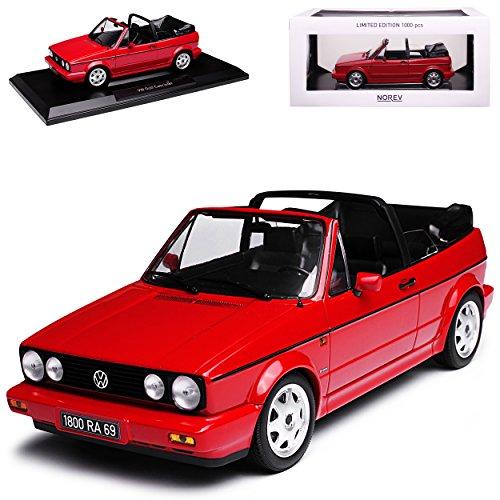Norev Volkwagen Golf I Cabrio Mittel Rot 1979-1993 limitiert 1 von 1000 Stück 1/18 Modell Auto