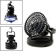 HAITRAL 2-in-1 LED Tent Light Fan Portable Camping...