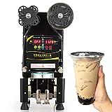 Commercial Fully Automatic Milk Tea Cup Sealing Machine, Plastic/Paper Cup Sealer 90/95mm for Restaurant, Bubble Milk Tea Shop, Cafe